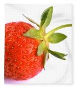 Fresh Red Strawberry Fleece Blanket