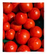 Fresh Ripe Red Tomatoes Fleece Blanket