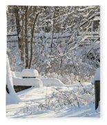 Fresh Snowfall  Fleece Blanket