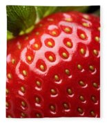 Fresh Strawberry Close-up Fleece Blanket