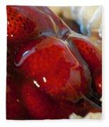 Fresh Strawberry Pie Fleece Blanket