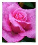 Fresh Sweet Surrender Rose Fleece Blanket