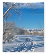 Fresh Tracks Fleece Blanket