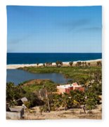 Fresh Water Lagoon At Playa La Poza Fleece Blanket