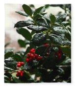 Fresh Winter Rain Fleece Blanket