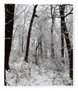 Freshly Fallen Snow Fleece Blanket