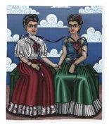 Frida Beside Myself Fleece Blanket