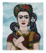 Frida In The Sky Fleece Blanket