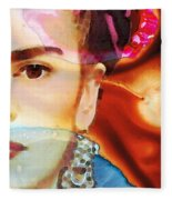 Frida Kahlo Art - Seeing Color Fleece Blanket