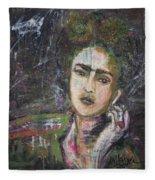 Frida Y Cigarrillos Fleece Blanket