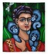 Fridas Triplets Fleece Blanket