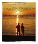 Friend For Life Poem Fleece Blanket