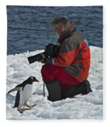 Friend Of The Penguins... Fleece Blanket