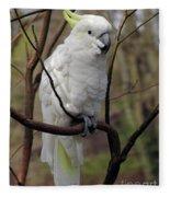 Friendly Cockatoo Fleece Blanket