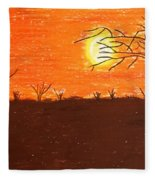 Friendly Sunset Fleece Blanket