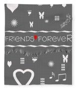 Friends Forever Valentine Fleece Blanket