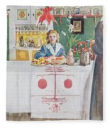Friends From The Town - Dining Room Fleece Blanket