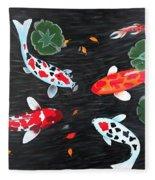 Friendship Underwater Big Commissioned Painting Fleece Blanket