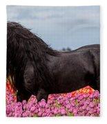 Friesian Fleur Fleece Blanket