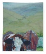 Friesian Holstein Cows Fleece Blanket
