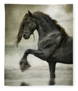 Friesian Surf  Fleece Blanket
