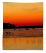 Frigid Morning Flock Fleece Blanket