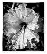 Frills And Hibiscus Flowers Fleece Blanket