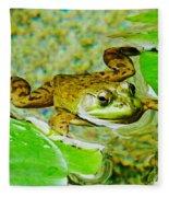 Frog  Abby Aldrich Rockefeller Garden Fleece Blanket