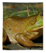 Frog At Night Fleece Blanket