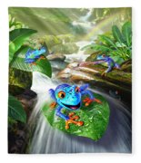 Frog Capades Fleece Blanket
