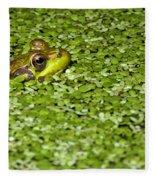 Frog In Duckweed Fleece Blanket