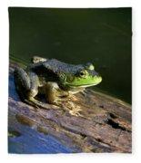 Frog On A Log Fleece Blanket