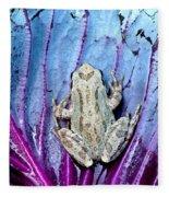 Frog On Cabbage Fleece Blanket