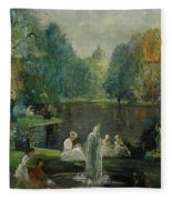 Frog Pond In Boston Public Gardens Fleece Blanket