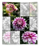 From Bud To Bloom - Dahlia Named Brian Ray Fleece Blanket