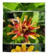 From Bud To Bloom - Zinnia Fleece Blanket
