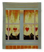 From French Riviera Window With Love Fleece Blanket
