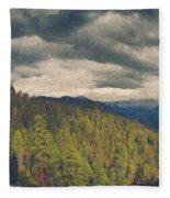 From Moro Rock Of The Sequoias Fleece Blanket