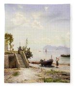From Sorrento Towards Capri Fleece Blanket