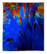 From The Deep Blue Fleece Blanket