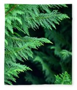 Fronds Of The Leyland Cypress Fleece Blanket