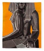 Front And Side Egyptian Pharoah Fleece Blanket