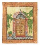 Front Door 2 Fleece Blanket