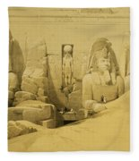Front Elevation Of The Great Temple Of Aboo Simbel Fleece Blanket