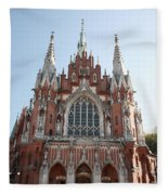 Front Entrance To St Joseph Church Krakow Fleece Blanket