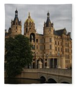 Front View Of Palace Schwerin Fleece Blanket