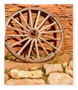 Frontier Wagon Wheel Fleece Blanket