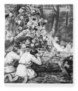 Frontiersmen, 1862 Fleece Blanket