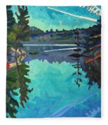 Frood Lake Outlet Fleece Blanket