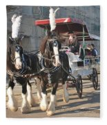 Frost Fair Horses Hastings Fleece Blanket